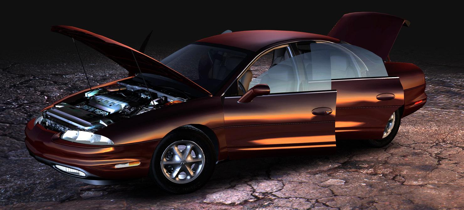 3ds max oldsmobile aurora