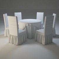 3d dining tables chairs model