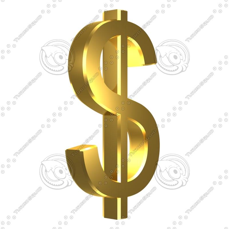 3d max dollar symbol