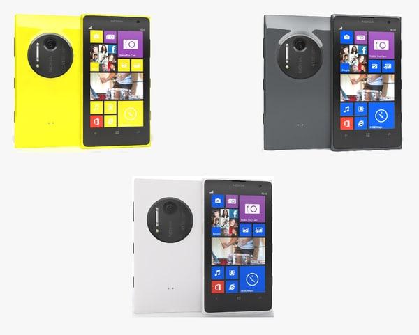 c4d nokia lumia 1020 colors