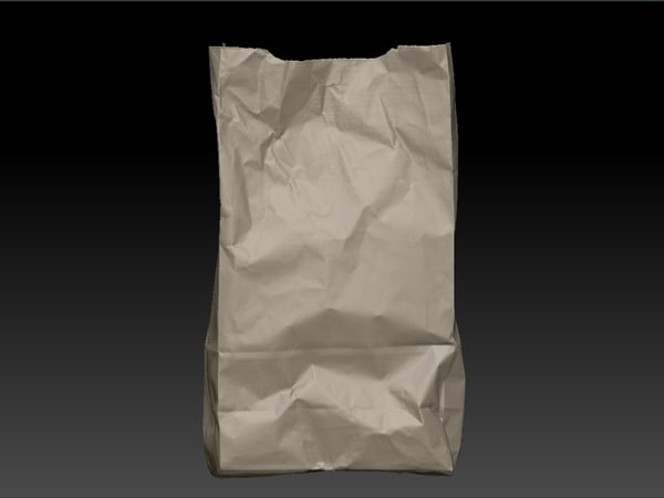 3d model paper grocery bag