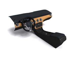 3d model mercedes interior class dashboard