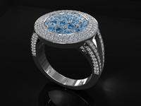 Halo Flower Diamond Ring
