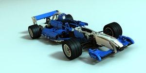lego 8461 williams f1 3d model
