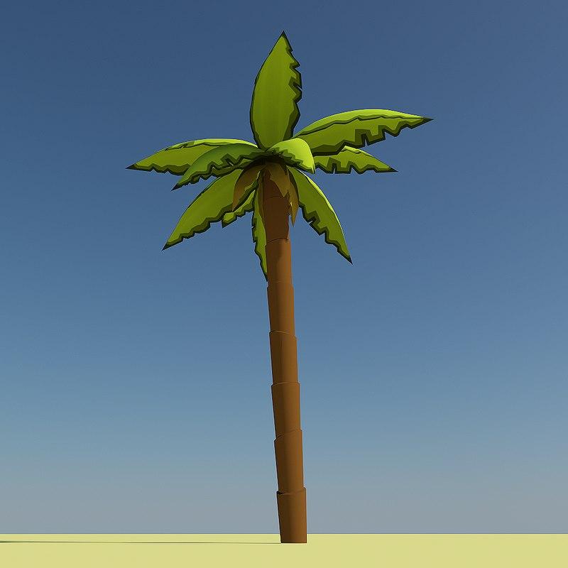 cartoon palm tree 3ds