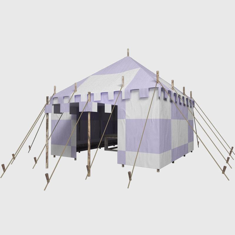 3d medieval tent
