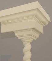 column decor 3d max