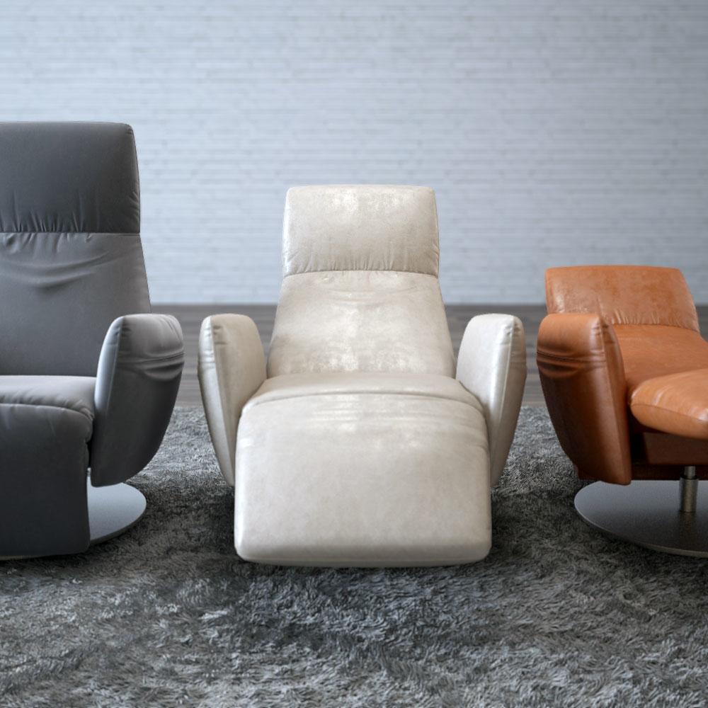 Poltrona Frau Pillow.Poltrona Frau Pillow Reclining Chair 3d