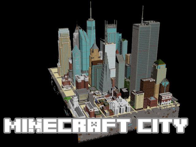 city minecraft 3d model