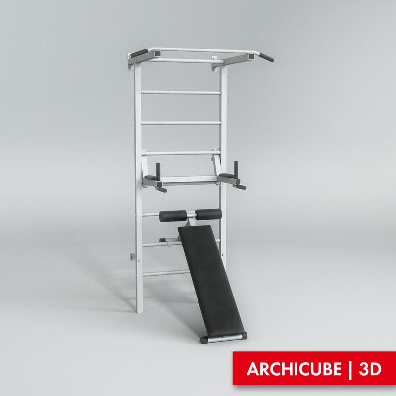 exercise machine 3d max
