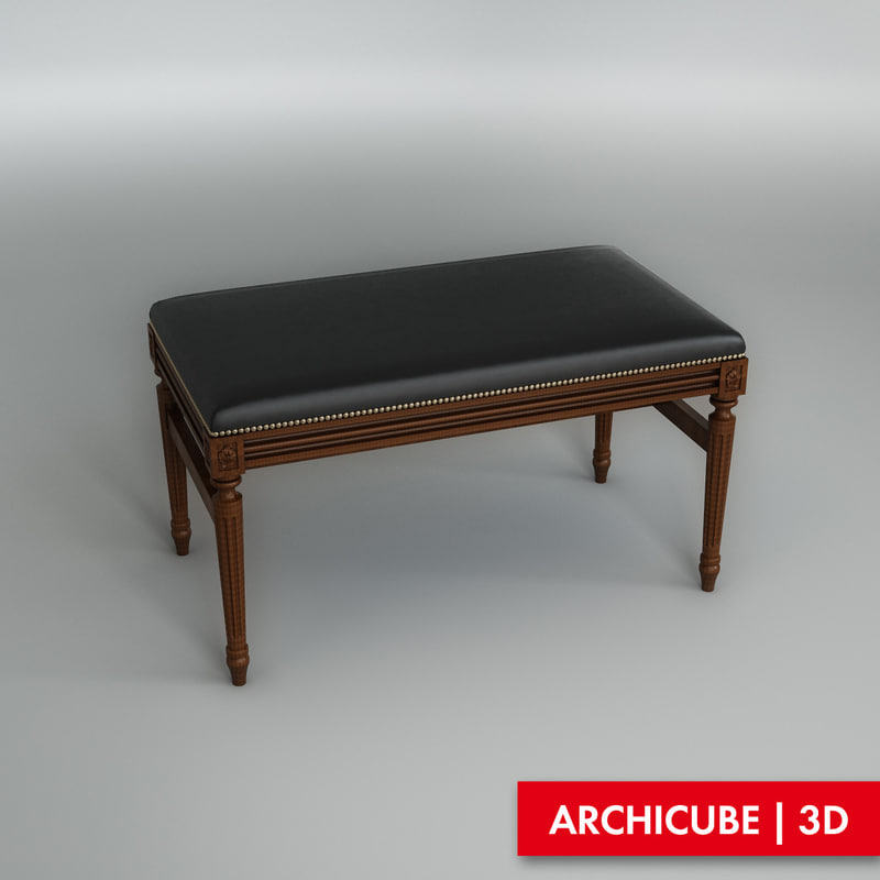 3d model classic bench