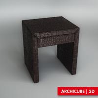 3d bedside table model
