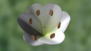 3d allium flowering