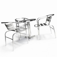 bistro table chairs 3d model