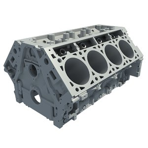 3d model v8 engine block