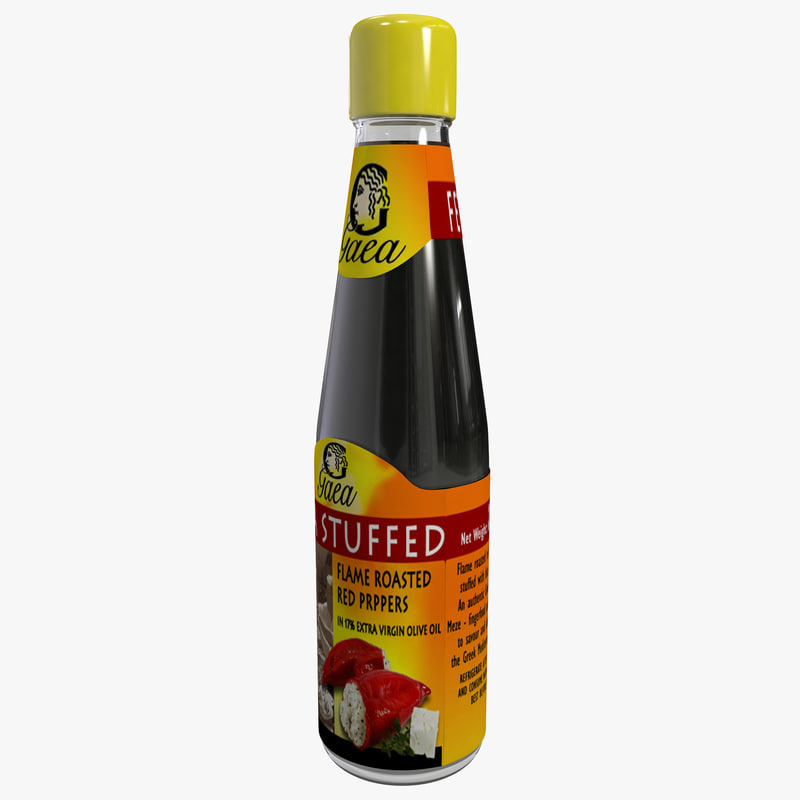 bottle feta stuffed peppers 3d max