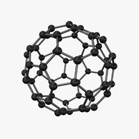 3d model c60 buckyball carbon