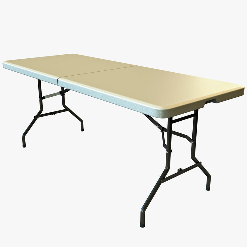 3d center folding table model