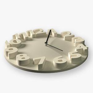 3d modern wall clock model