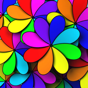 3d colorful fan