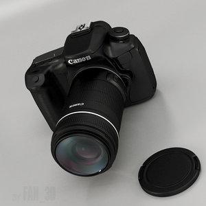 canon eos camera 3d model