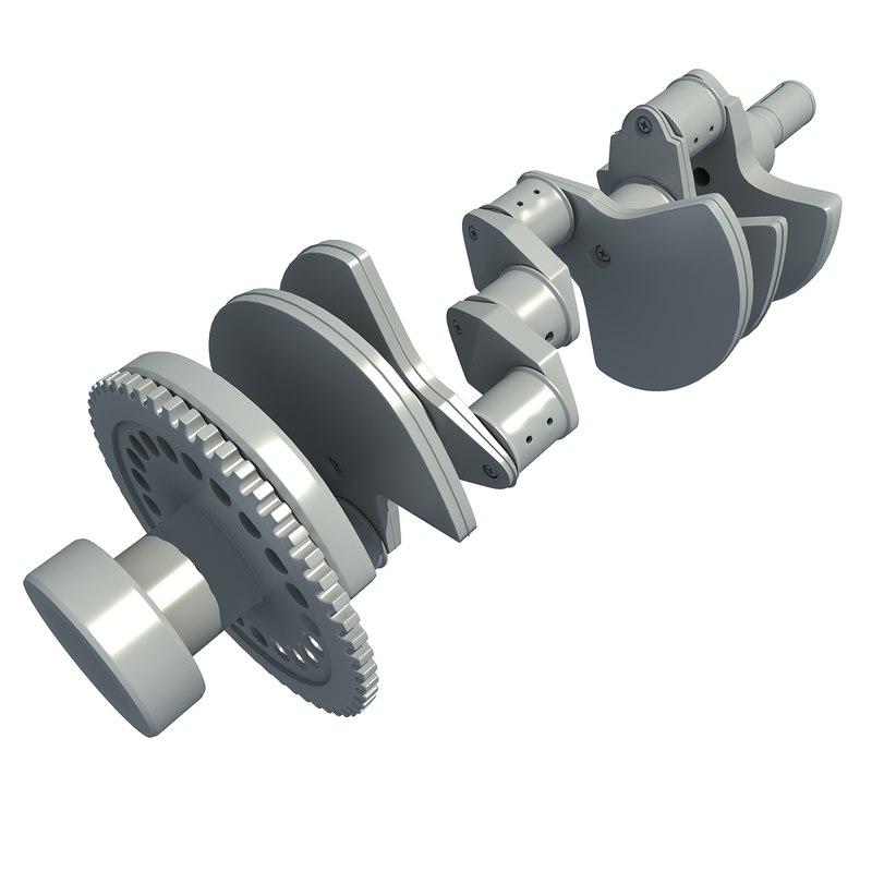 3d model crank shaft crankshaft