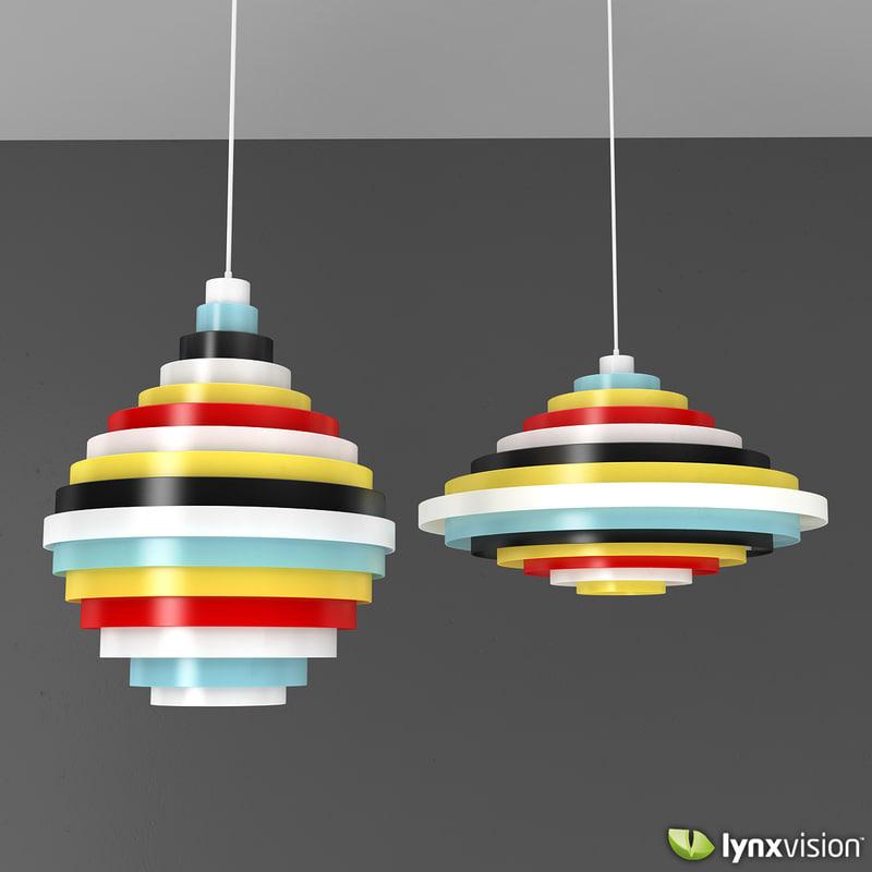 3ds max multicolor pxl pendant lamp