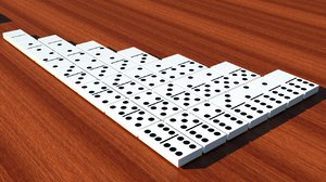 dominoes 3d model