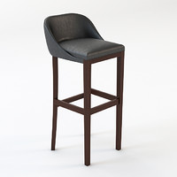 3d leather bar stool