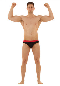 3d obj body scan athletic male