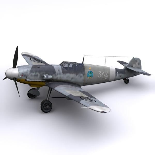 3d model gustav bf-109s 364 1943