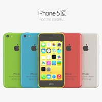 3d apple iphone 5c color