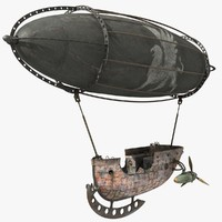 pirate dirigible 3d model