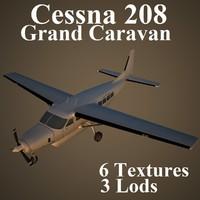 3d model of cessna 208