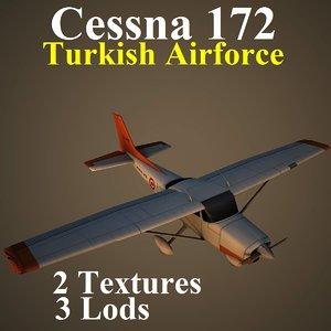 cessna 172 taf aircraft 3d max