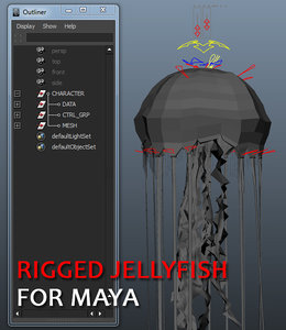 jellyfish rigging dynamics 3d ma