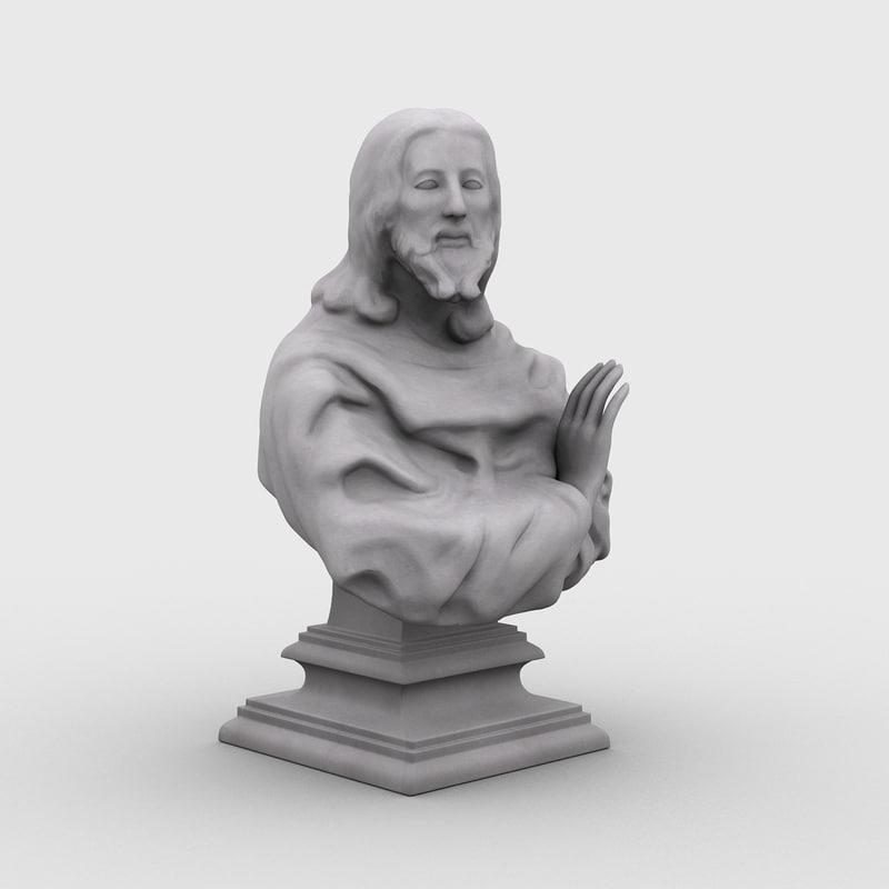 3d model bust jesus