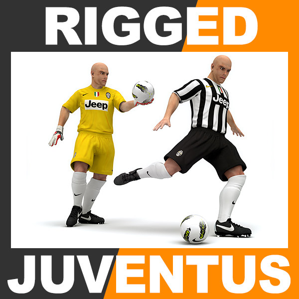 rigged football player - 3d max