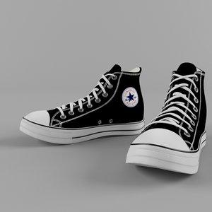 shoe converse 3d model