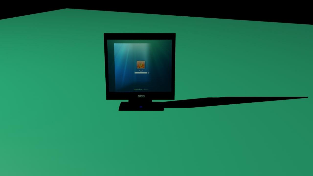 3d model aoc monitor