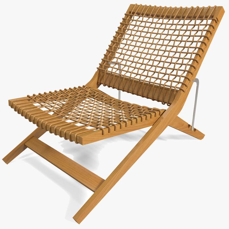 c4d outdoor folding chair