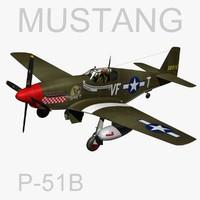 3d north american p-51b mustang model