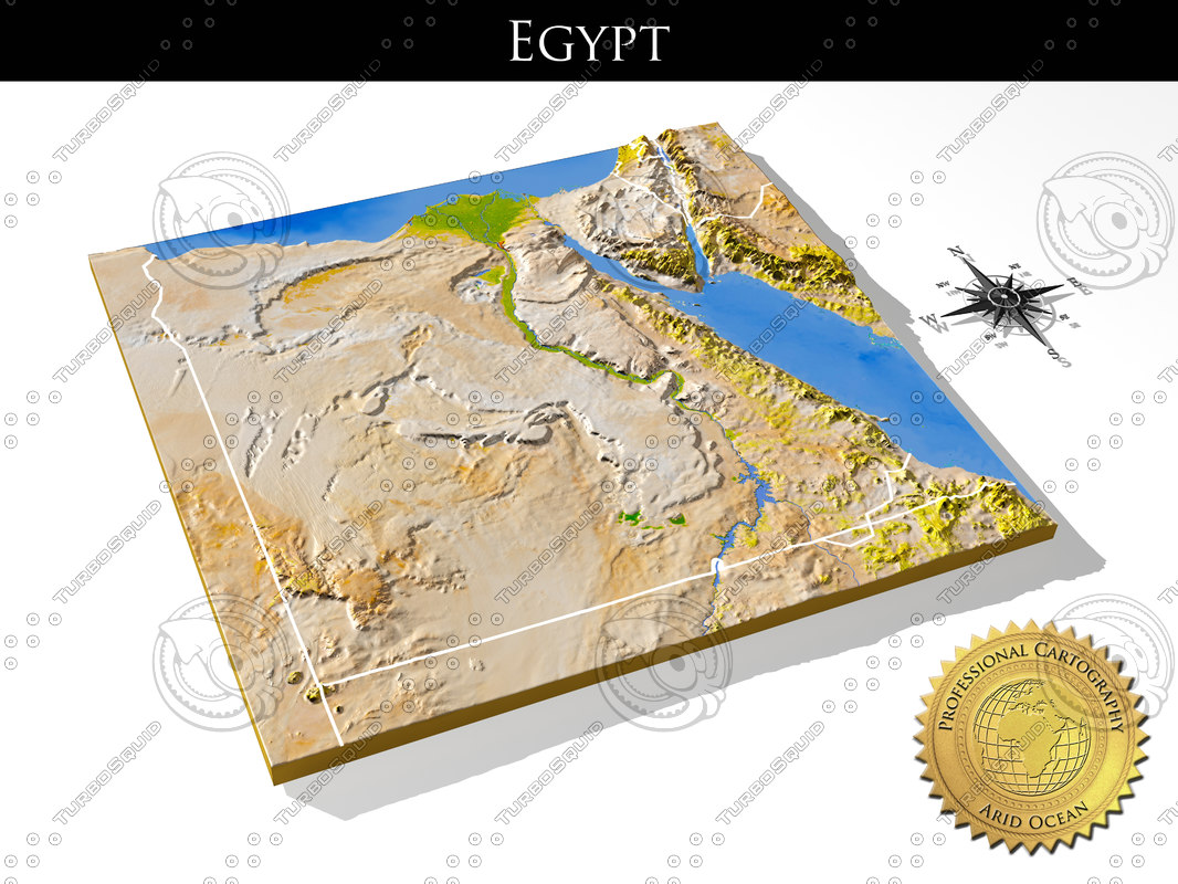 egypt resolution relief maps 3d max