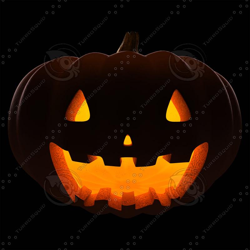 3d model posing halloween pumpkin