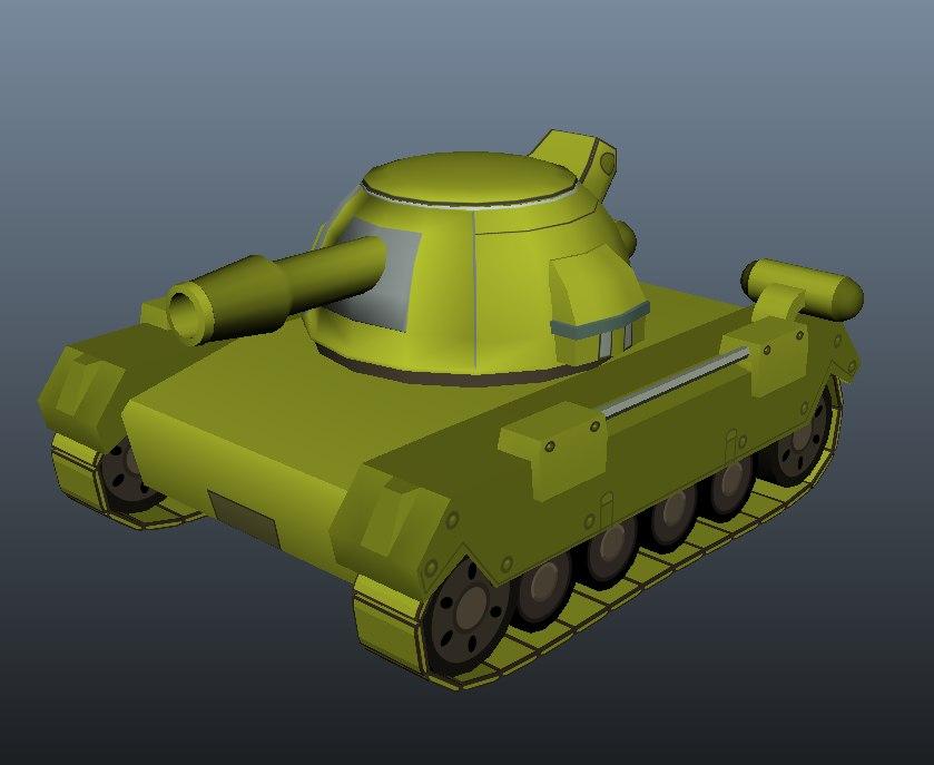 maya cartoon style tank