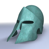 3d spartan helmet patina model