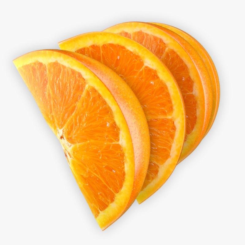 orange slice 3d model