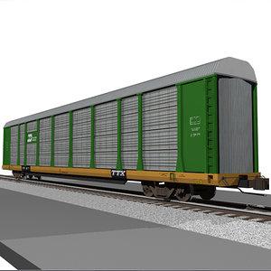cinema4d train car autorack