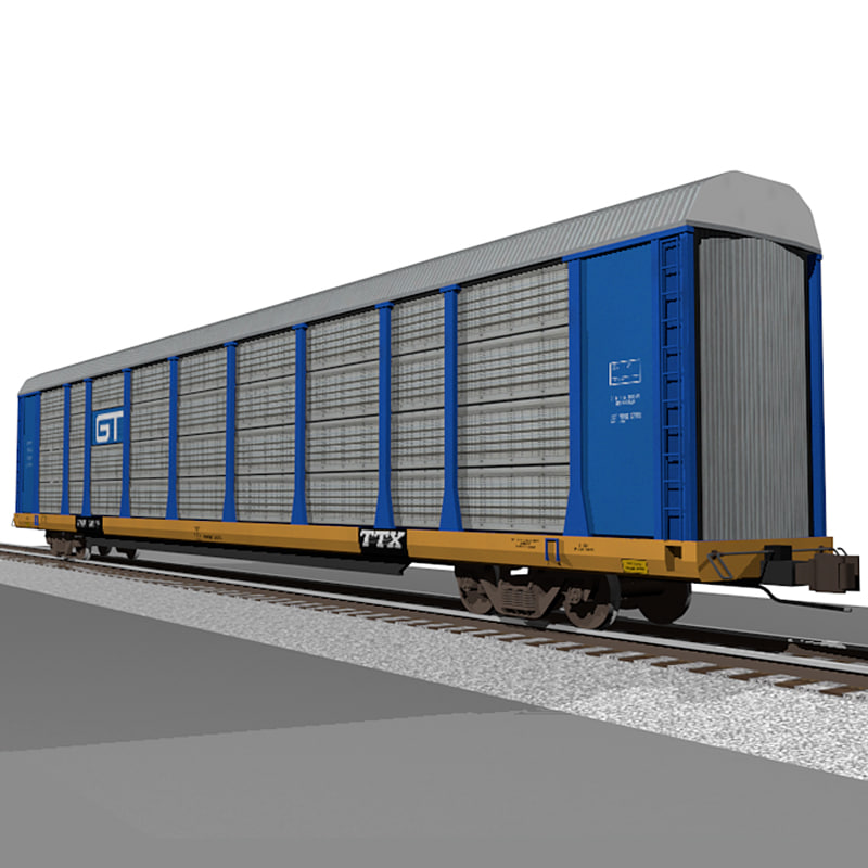 train car autorack c4d