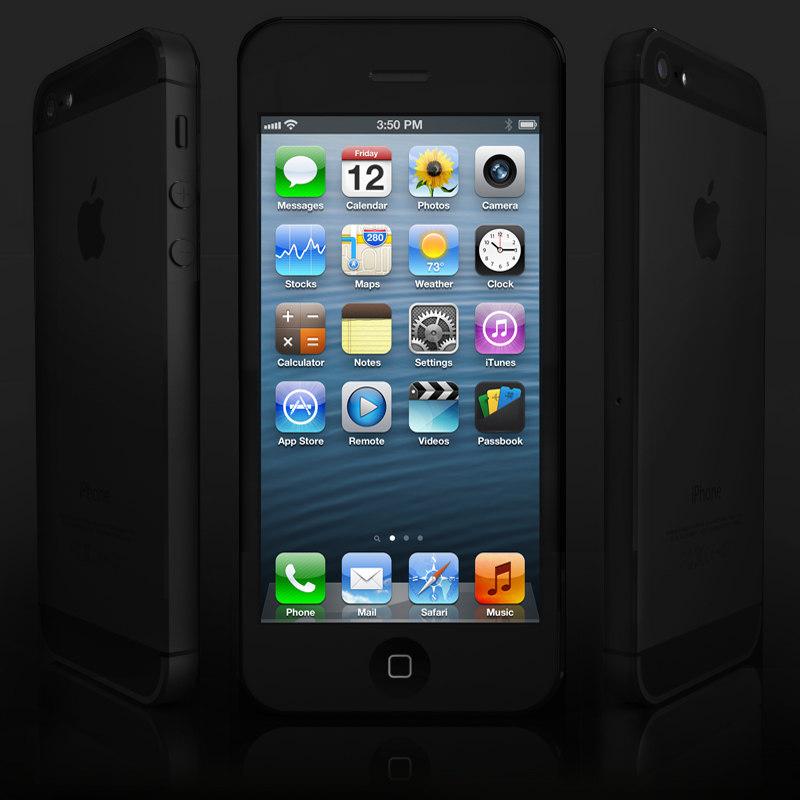 3d apple iphone 5 phone
